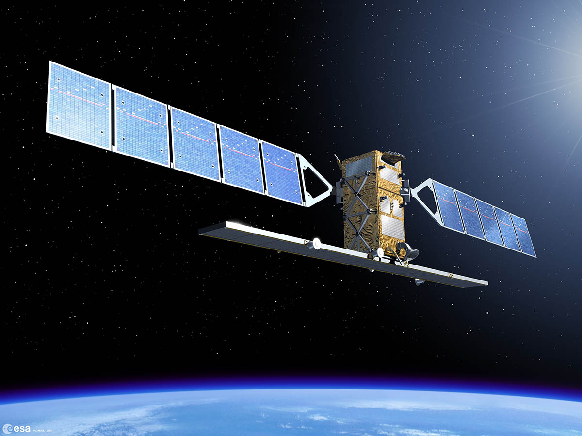 Sentinel-1 - the first Earth observation satellite to be built for Europes Global Monitoring for Environment and Security programme - Image credit - ESA- P Carril