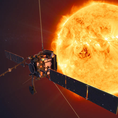 ESA's Solar Orbiter mission will face the Sun from within the orbit of Mercury at its closest approach - Image credit - ESA-ATG medialab