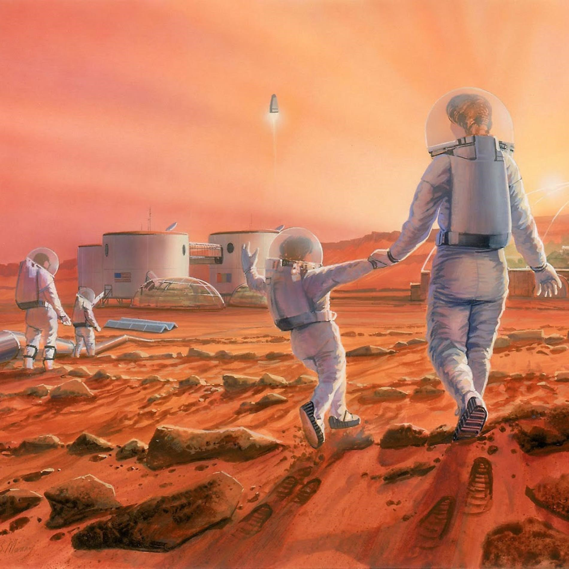 Our future on Mars? Image credit Robert Murray, The Mars Society